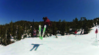 Senior Josh Kleemann boosts a tail grab over a kicker at Sierra At Tahoe. When not in the park, Kleemann likes riding bowls and chutes at Alpine Meadows.