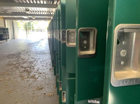 Lockers will remain empty for the first weeks of the school year, and likely the first semester. Students received their schedules for distance learning, and await the start of Zoom courses.
