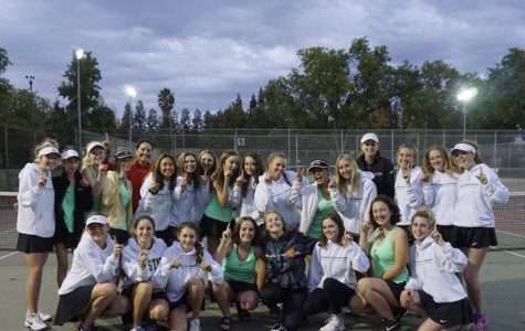 Girls tennis team serves up wins at section tournament