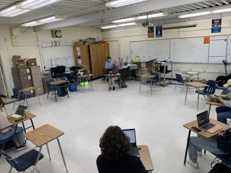 Currently sparsely populated, there will soon be more students in teacher Michael Mahoney