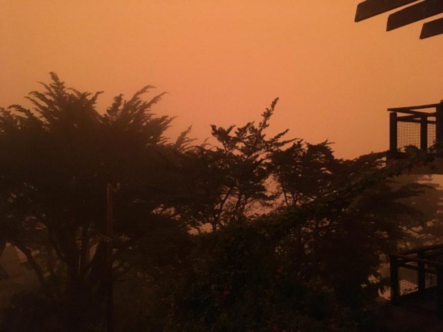 Smoky+skies+and+heat+make+for+an+intense+combination+in+California+cities+like+San+Francisco.+%28pictured%29.+While+the+haze+in+Sacramento+appears+to+be+less+orange+than+this%2C+the+heat+is+more+extreme.