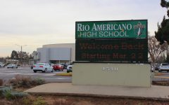 Rio staff prepares to welcome back students March 22, displaying a welcome message on the sign in the front of campus.