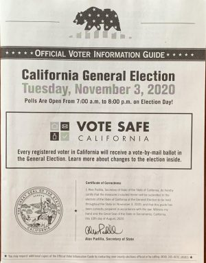 Information guides are sent out to all registered voters in California prior to the election to ensure that all voters are provided with the information they need to make informed decisions. The guide contains information about all candidates and propositions on the ballot this year.