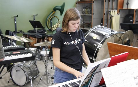 Band program introduces new piano class in theater