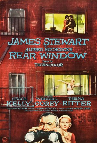 "The 1954 ""Rear Window"" film poster previews the mysterious nature of Hitchcock"