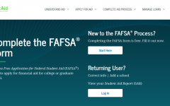 A screenshot of the FAFSA homepage. The counseling staff is available to answer questions regarding federal student aid.