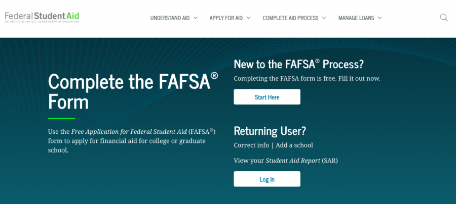 A+screenshot+of+the+FAFSA+homepage.+The+counseling+staff+is+available+to+answer+questions+regarding+federal+student+aid.