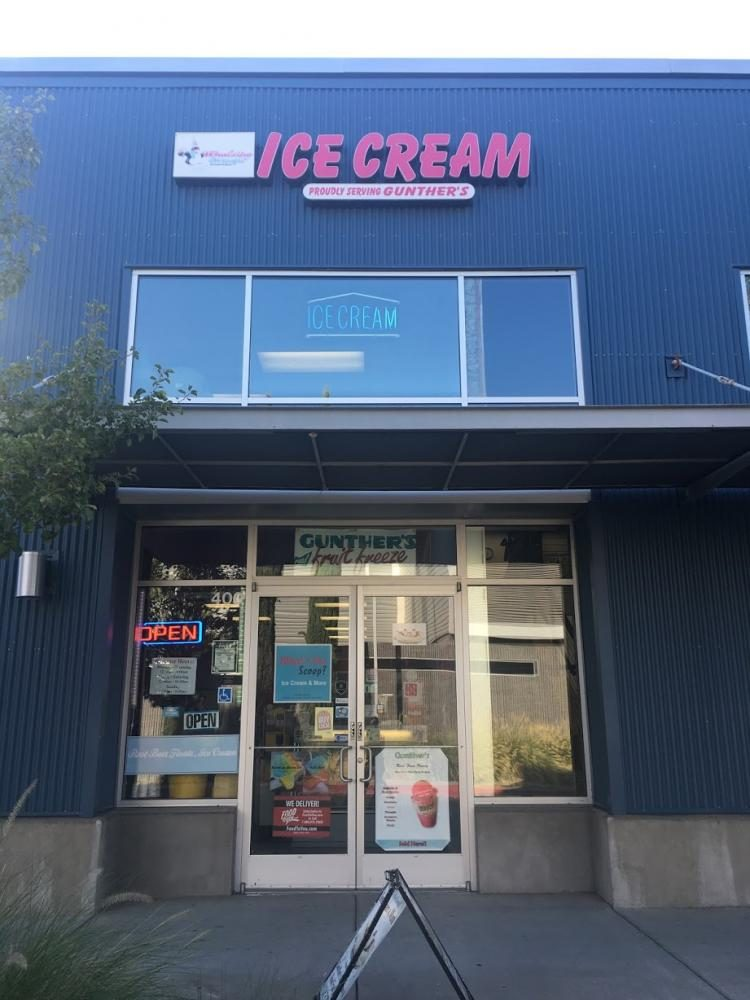Exterior of the ice cream shop on Folsom Blvd.