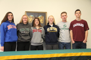 From left to right: Morgan McClure, Emily Hansen, Ivy Reich, Elizabeth Hutchinson, Paul Geyer, Eric Gylling