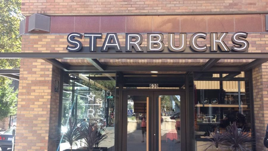 The Starbucks Reserve Bar is located at the intersection of 7th St and K St downtown.