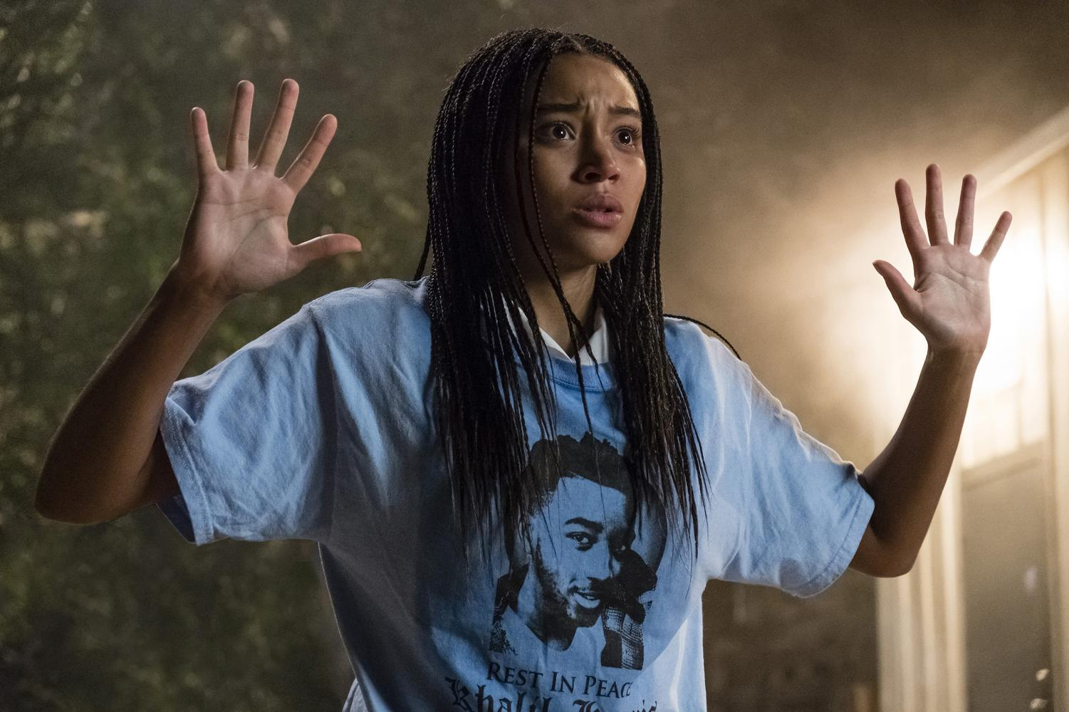 A scene from The Hate U Give, directed by Geaorge Tilman. It started as a book and gained popularity.